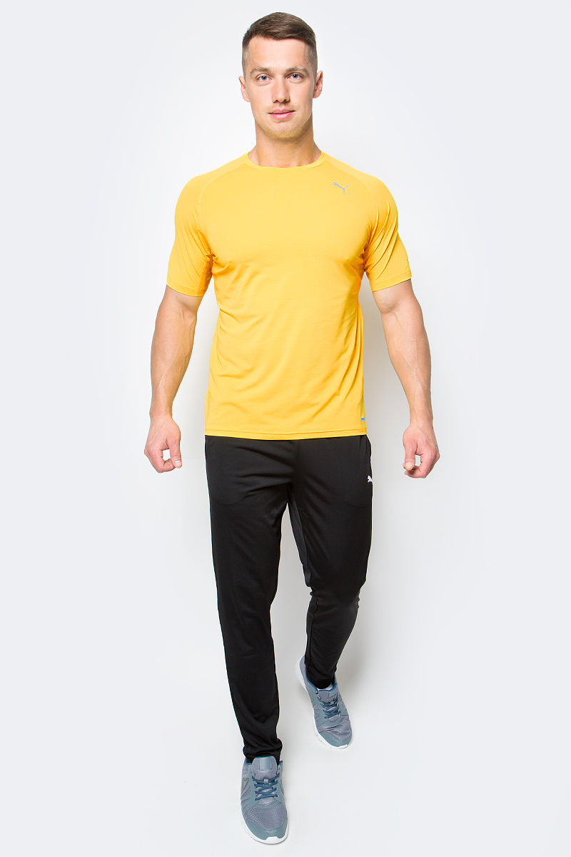Футболка мужская Puma Pwrcool Speed S S Tee, цвет: желтый. 51500503. Размер XXL (52/54) s02 cj3214 wool felt 32k notebook w 4gb usb 2 0 flash disk deep grey