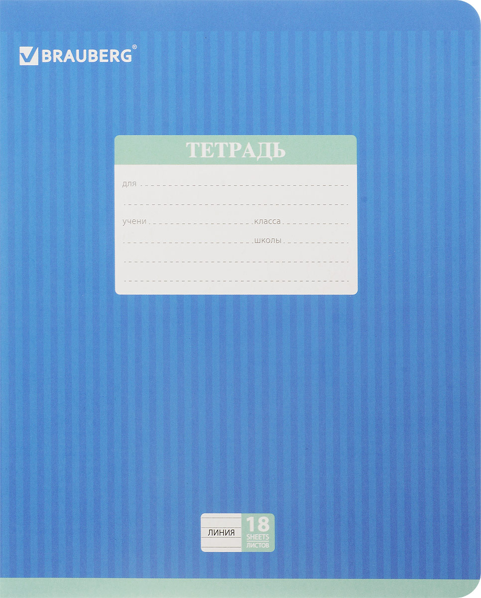 Brauberg Тетрадь Hide-and-Seek 18 листов в линейку цвет синий401860_синийОбложка тетради Brauberg Hide-and-Seek с закругленными углами выполнена из плотного картона, что позволит сохранить ее в аккуратном состоянии на протяжении всего времени использования. На задней обложке находится русский алфавит.Внутренний блок тетради, соединенный двумя металлическими скрепками, состоит из 18 листов белой бумаги. Стандартная линовка в линейку голубого цвета дополнена полями.