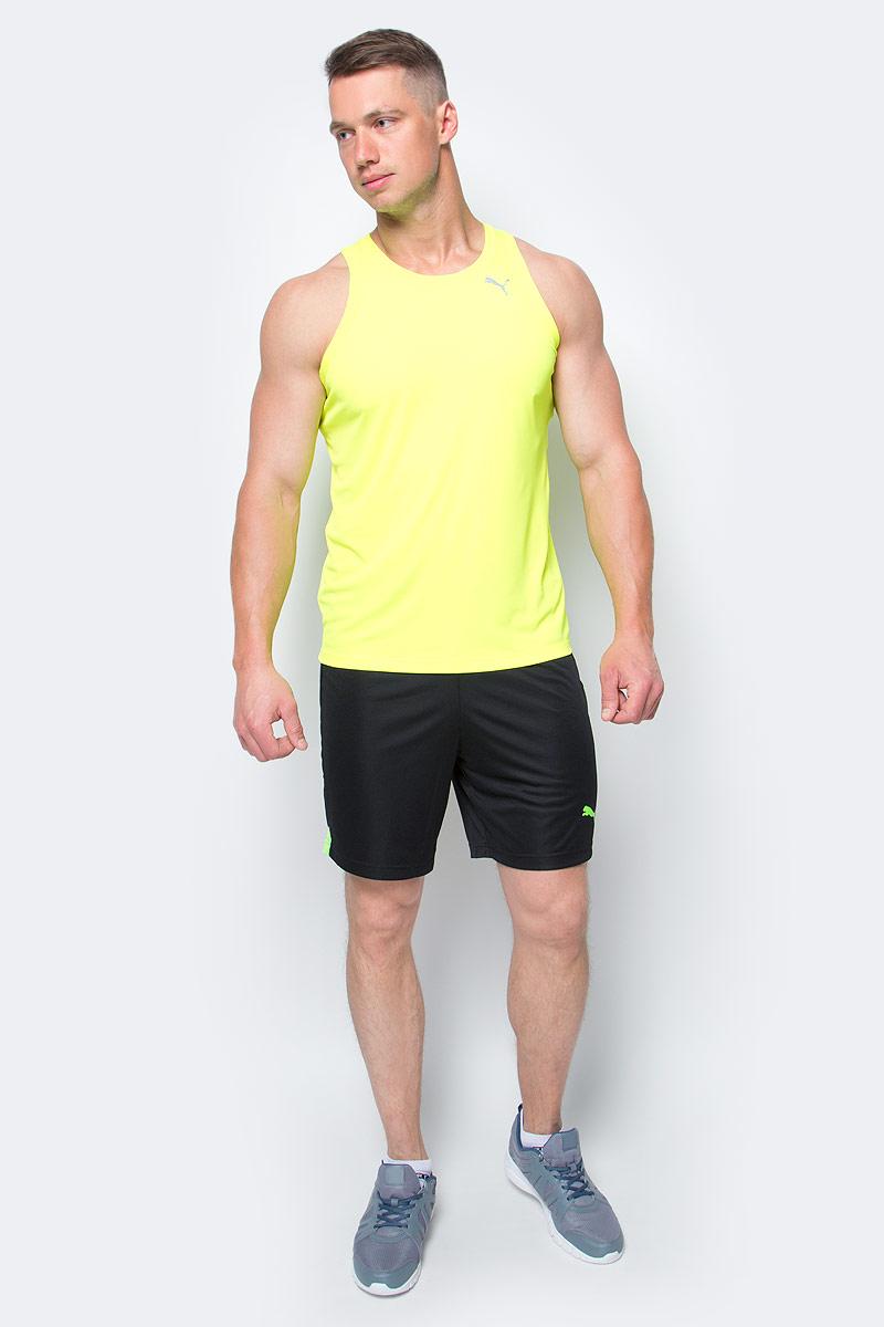 Шорты мужские Puma FtblTRG Shorts, цвет: черный, зеленый. 655208_50. Размер L (48/50)655208_50Шорты мужские Ftbltrg Shorts выполнены из 100% полиэстера с использованием высокофункциональной технологии dryCELL, которая отводит влагу, поддерживает тело сухим и гарантирует комфорт. Шорты декорированы логотипом PUMA, нанесенным методом термопечати на левую штанину. Имеются вставки из сетчатого материала. Пояс из эластичного материала снабжен затягивающимся шнуром. Изделие имеет стандартную посадку и классический покрой. Удобные спортивные шорты отлично подойдут для командных игр или для тренировки в зале.