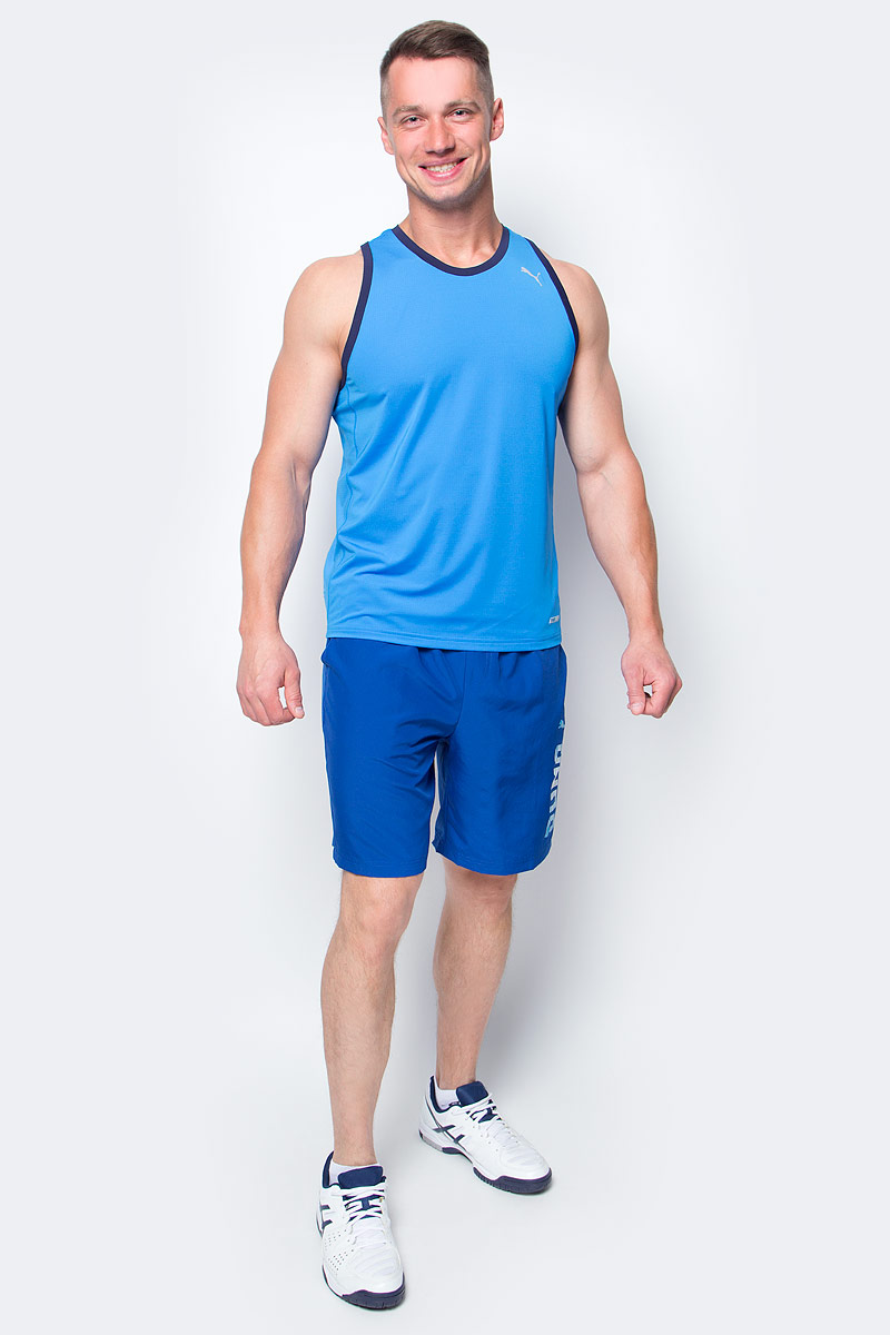 Майка мужская Puma Pwrcool Speed Singlet, цвет: голубой. 51500602. Размер XXL (52/54) майка спортивная race singlet