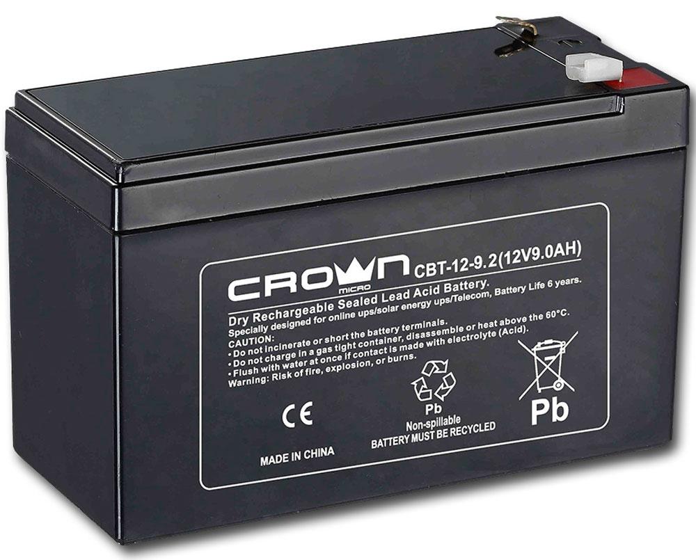Crown CBT-12-9.2 аккумулятор для ИБП аккумуляторы где купить
