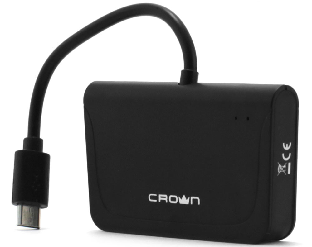 Crown CMCR-B13 USB-концентратор crown cmm 931w yellow беспроводная мышь