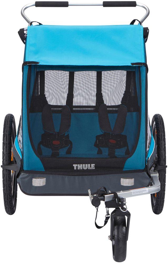 Велоприцеп детский Thule Coaster XT, комплектом для прогулочной коляски10101803Thule Coaster XT - Thule Coaster - прочный велосипедный прицеп, гарантирующий безопасную и комфортную езду, который легко трансформируется в прогулочную коляску по прибытии в пункт назначения.Особенности: - Легкое переоборудование в прогулочную коляску;- прочное крепление к велосипеду при помощи запатентованной системы Thule EzHitch;- хранение прогулочного колеса в коляске;- позволяет разместить двоих детей с удобством;- изменение высоты ручки HeightRight для удобства родителей;- совместим с линейкой аксессуаров;- легко складывается для хранения и транспортировки;- расширенный грузовой отсек для багажа;- соответствует международным стандартам безопасности.Гид по велоаксессуарам. Статья OZON Гид