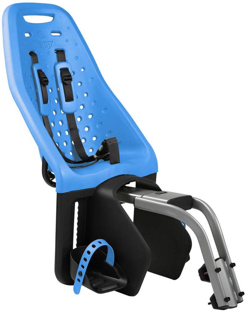 Детское велокресло Thule Yepp Maxi Seat Post, цвет: голубой12020232Невероятно продуманное, функциональное и стильное детское велосипедное сиденье Thule Yepp Maxi Easy Fit для ежедневных прогулок. Детское велосипедное кресло, вес всего 1.9 кг, устанавливается на переднюю часть велосипеда. Легкое, мягкое и прочное, оно обеспечит Вашему ребёнку высокий комфорт и отличный обзор. Детское велосипедное сиденье быстро и легко устанавливается на велосипед и крепится к заднему багажнику с окном EasyFit или багажнику, оснащенному переходником Thule Yepp Maxi EasyFit (продается отдельно). Мягкое сиденье, смягчающее толчки и вибрацию, обеспечивает абсолютный комфорт для ребенка. Максимальный комфорт и безопасность благодаря регулируемому 5-точечному ремню безопасности с подкладкой. Оснащенная защитой от детей пряжка позволяет быстро и легко зафиксировать ребенка. Дополнительная видимость на расстоянии благодаря встроенному рефлектору и точке крепления светового индикатора. Адаптируется к параметрам ребенка по мере его роста и обеспечивает идеальную посадку благодаря регулируемым опорам для ног и фиксирующему ремню. Благодаря водоотталкивающим материалам сиденье всегда остается сухим и легко чистится . Разработано и протестировано для детей от 9 месяцев* до 6 лет, весом до 22 кг. (*Обратитесь к педиатру, если ребенку менее 1 года).