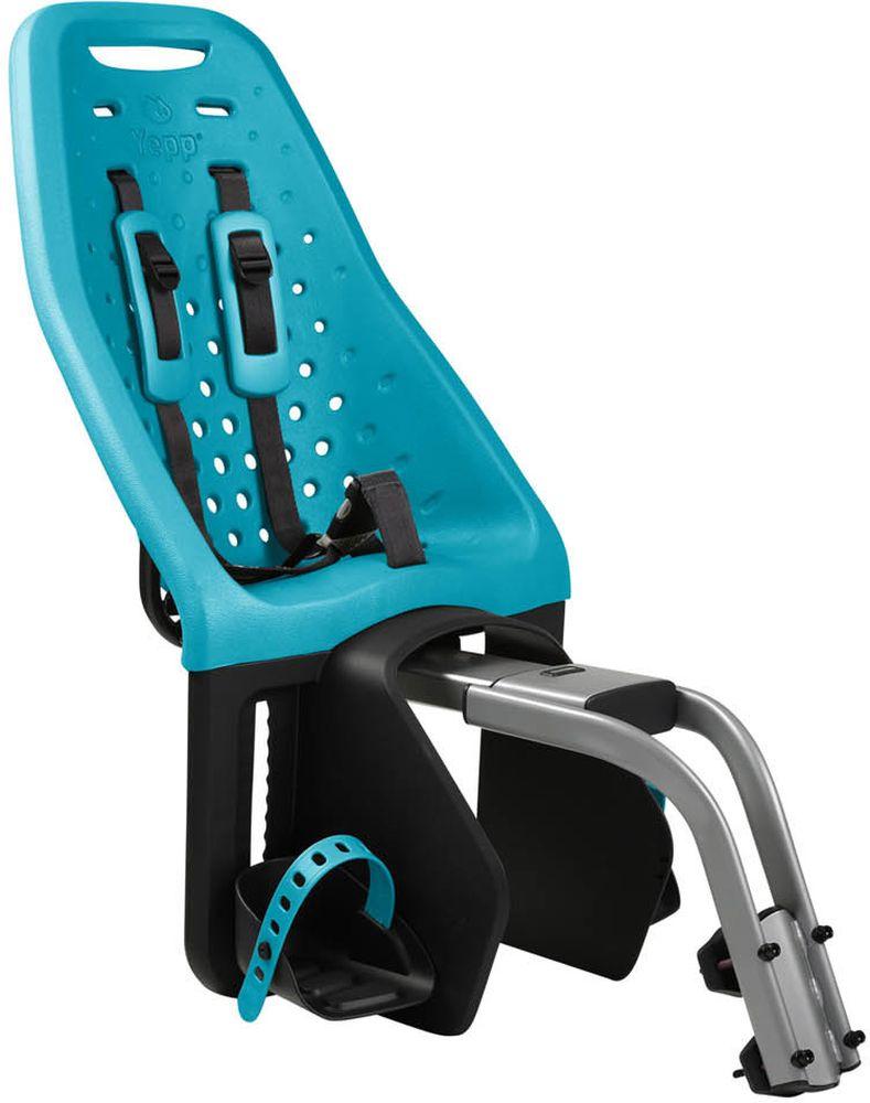 Детское велокресло Thule Yepp Maxi Seat Post, цвет: морская волна12020253Невероятно продуманное, функциональное и стильное детское велосипедное сиденье Thule Yepp Maxi Easy Fit для ежедневных прогулок. Детское велосипедное кресло, вес всего 1.9 кг, устанавливается на переднюю часть велосипеда. Легкое, мягкое и прочное, оно обеспечит Вашему ребёнку высокий комфорт и отличный обзор. Детское велосипедное сиденье быстро и легко устанавливается на велосипед и крепится к заднему багажнику с окном EasyFit или багажнику, оснащенному переходником Thule Yepp Maxi EasyFit (продается отдельно) .Мягкое сиденье, смягчающее толчки и вибрацию, обеспечивает абсолютный комфорт для ребенка. Максимальный комфорт и безопасность благодаря регулируемому 5-точечному ремню безопасности с подкладкой .Оснащенная защитой от детей пряжка позволяет быстро и легко зафиксировать ребенка. Дополнительная видимость на расстоянии благодаря встроенному рефлектору и точке крепления светового индикатора .Адаптируется к параметрам ребенка по мере его роста и обеспечивает идеальную посадку благодаря регулируемым опорам для ног и фиксирующему ремню .Благодаря водоотталкивающим материалам сиденье всегда остается сухим и легко чистится .Разработано и протестировано для детей от 9 месяцев* до 6 лет, весом до 22 кг. (*Обратитесь к педиатру, если ребенку менее 1 года).