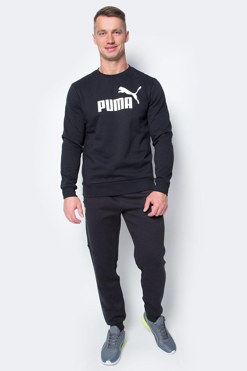 цена  Свитшот мужской Puma ESS No.1 Crew Sweat, Fl, цвет: черный. 83825201. Размер XXL (52/54)  онлайн в 2017 году