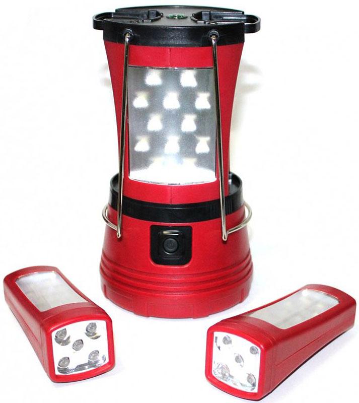 Фонарь-трансформер Bradex ДанкоTD 0401Многофункциональный фонарь-трансформер Данко подойдет тем, кто любит проводить свое свободное время вдали от шума города. Уникальность фонаря заключается в том, что его можно разделить на три фонарика. Каждый съемный фонарик имеет 12 светодиодов на боковой панели и четыре на верхней. Прочный прорезиненный верхний корпус защищает аппарат от капризов природы, делая его более надежным.Особенности:2 режима освещения: работают все 4 стороны или только 2 стороны 2-съемных фонарика с двумя режимами яркости. Возьмите фонарик с собой оставив фонарь-базу. Каждый съемный фонарик имеет 12 светодиодов на боковой панели и 4 светодиода на верхней.Фонарь-база остается устойчивой, даже если вы уберете оба съемных фонарика.Дополнительные функции: 2 раскладные ручками для удобного ношения или подвешивания.Прочный прорезиненный внешний корпус.Фонарь-база работает от 4 батареек типа D (не включены).Съемные фонарики работают от 3 батареек типа ААА (не включены).