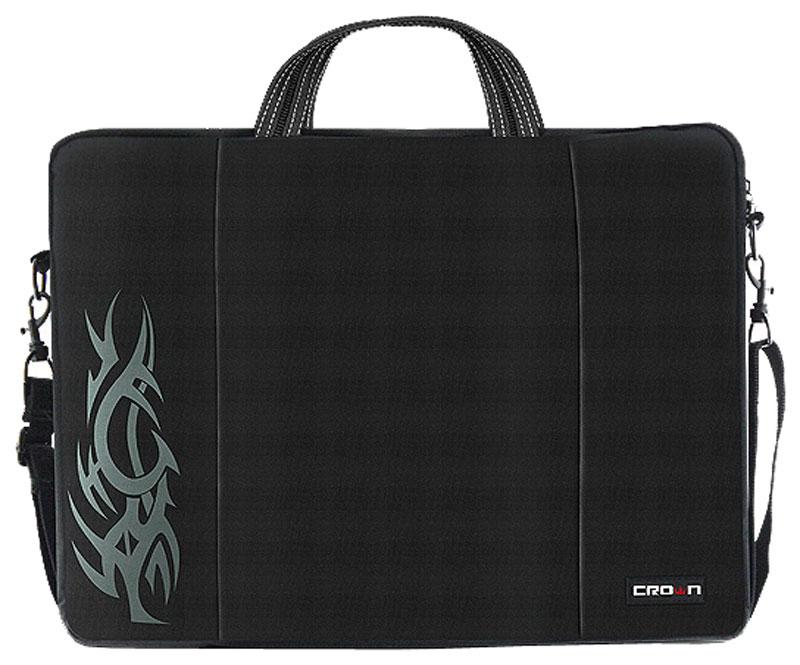 Crown CMB-437, Black сумка для ноутбука 15,6CM000000607Сумка Crown CMB-437 для ноутбука до 15.6 выполнена из плотного синтетического материала и имеет утолщенные стенки для лучшей защиты ноутбука от случайных ударов и царапин, а также от пыли и влаги. Внешний передний карман служит для хранения аксессуаров, флэш-накопителей, визитных карт. Двойная застежка молния предоставляет удобный доступ к устройству. Удобные ручки для транспортировки и регулируемый, съемный плечевой ремень обеспечат удобство переноски.
