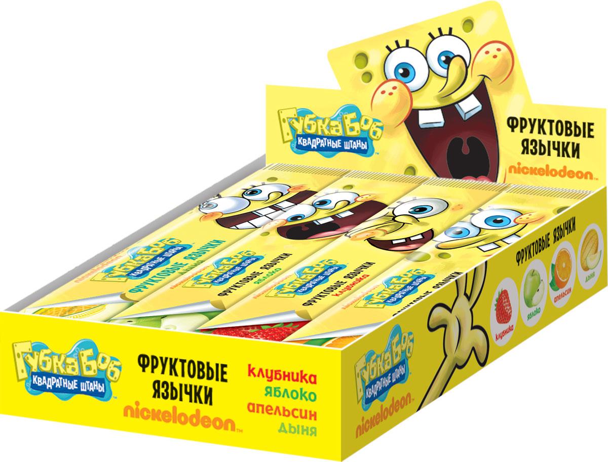 Sponge Bob фруктовая жевательная конфета, 12 шт по 35 гУТ19145Фруктовые жевательные конфеты, микс 4-х вкусов (клубника, яблока, апельсин, дыня).