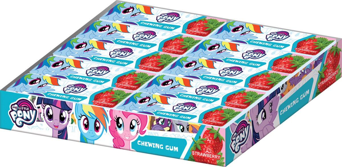 My Little Pony жевательная резинка в пластинках, 20 шт по 13 гУТ21326Жевательная резинка в пластинках, со вкусом клубники, без красителя.