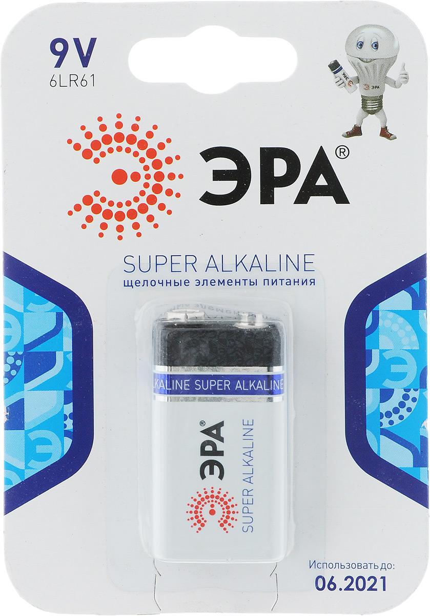 Батарейка алкалиновая ЭРА Energy, тип крона 6LR61 (1BL), 9В батарейка алкалиновая эра energy тип a27 1bl 12в