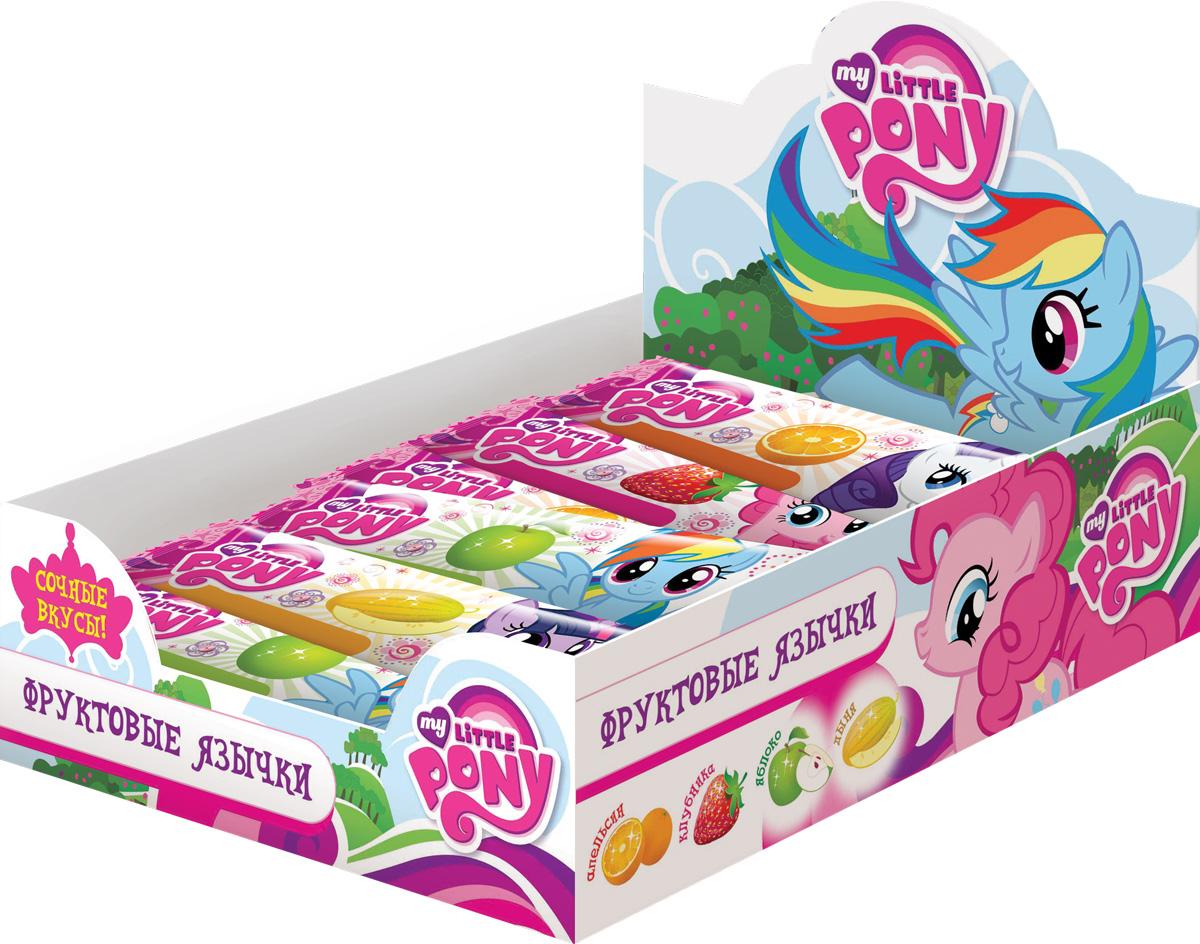 My Little Pony фруктовая жевательная конфета, 50 шт по 10 гУТ21241Жевательные конфеты, 4 вкуса: апельсин, клубника, яблоко, дыня.