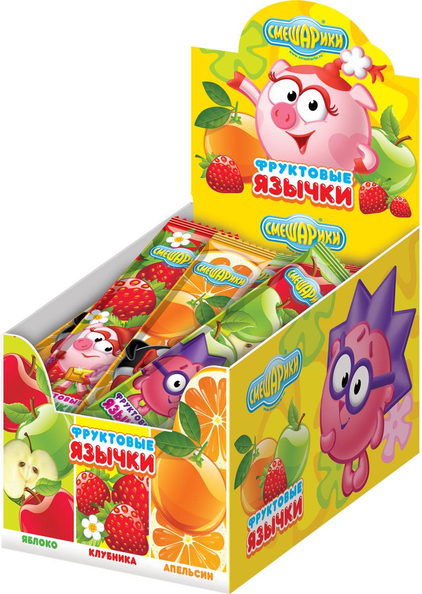Смешарики фруктовая жевательная конфета, 100 шт по 10 гУТ06Жевательные конфеты, 3 вкуса: апельсин, клубника, яблоко.