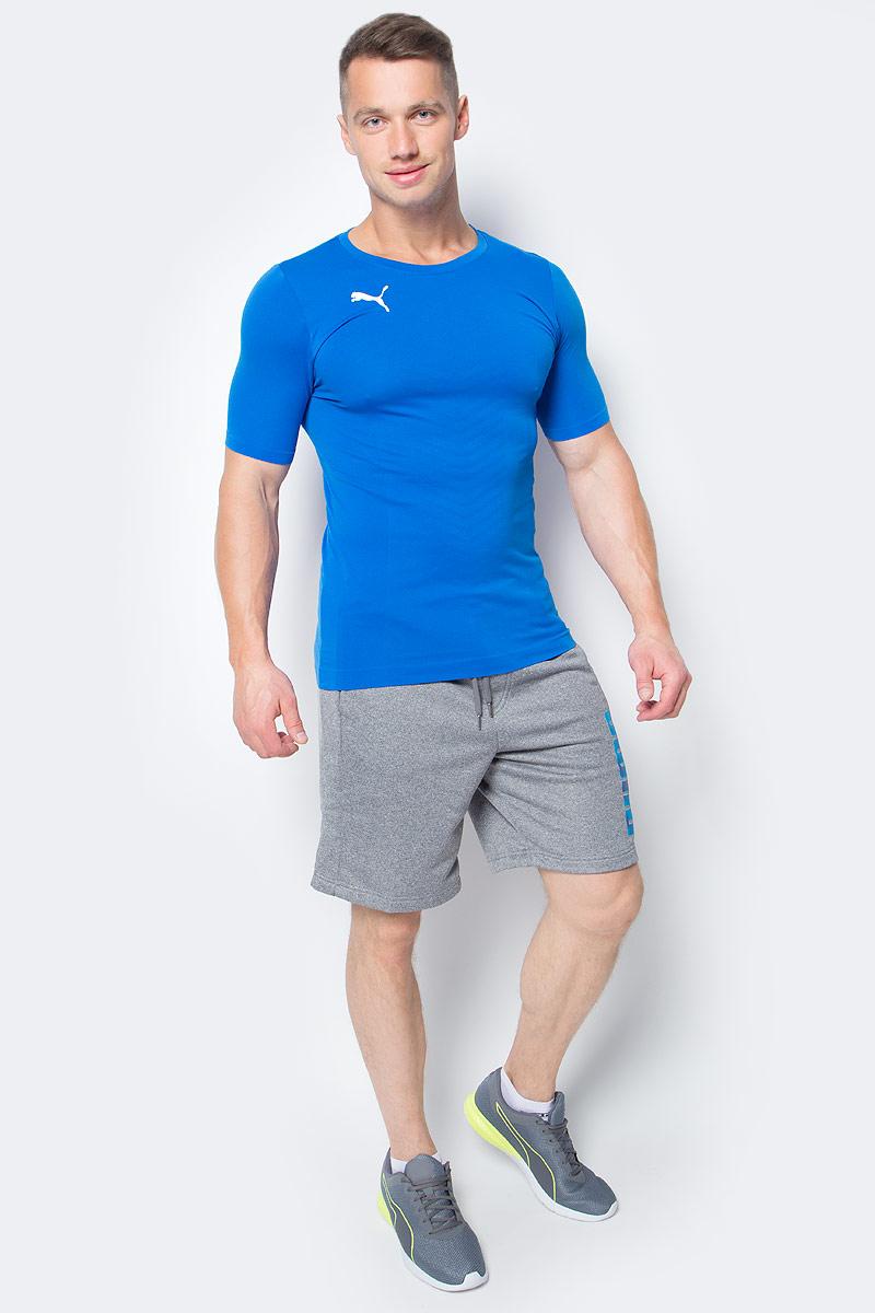 Футболка мужская Puma ftblTRG evoKNIT Tee, цвет: голубой. 655205_02. Размер XL (50/52)655205_02Футболка ftblTRG evoKNIT Tee изготовлена из 100% полиамида с верхним покрытием из биоматериала. Бесшовная конструкция изделия по корпусу из трикотажа жаккардового плетения создает максимальный комфорт. Изделие имеет классический крой, круглый вырез горловины и стандартные короткие рукава. Модель дополнена набивным логотипом PUMA с правой стороны груди. Такая футболка прекрасно подходит для тренировок.