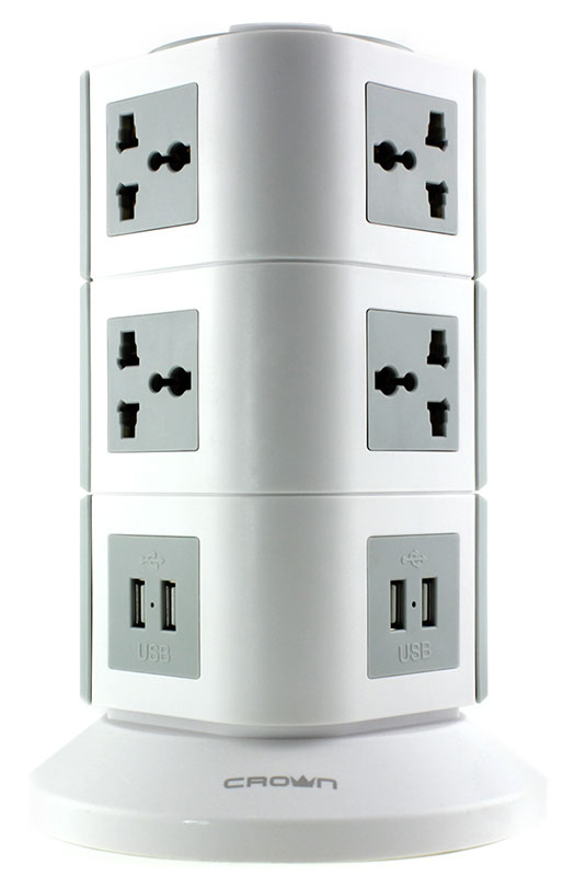Crown CMPS-20 сетевой фильтрCM000001394Сетевой фильтр Crown CMPS-20 имеет 10 розеток и 4 USB порта. Он оснащен защитой от перепадов напряжения в сети. Фильтрация происходит за счёт встроенного варистора. В устройстве установлены элементы, которые способны предотвратить разрушительное воздействие разряда молнии на подключённые приборы. Температурный предохранитель отключит подачу питания, когда температура устройства превысит максимальное значение.