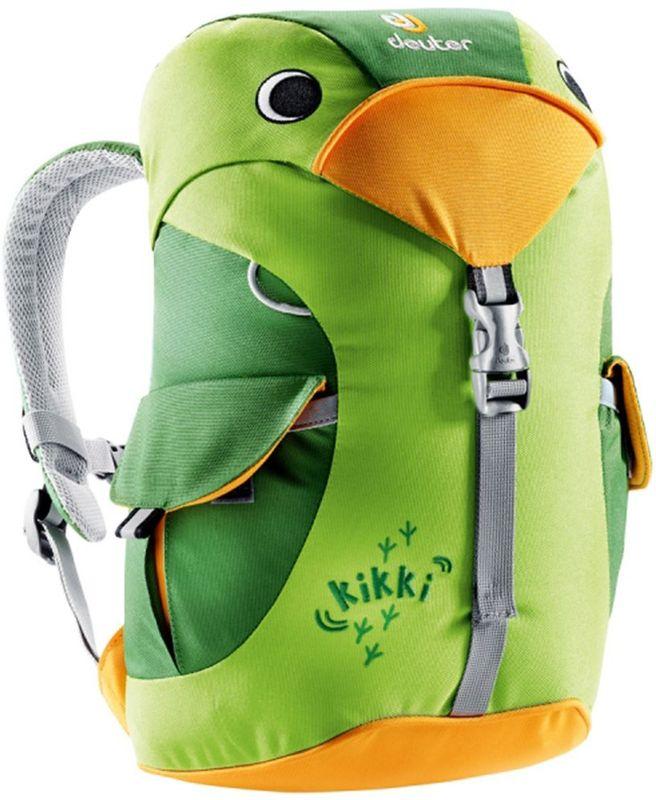 Deuter Рюкзак Kikki цвет зеленый36093-2206Рюкзак Deuter Kikki - это веселый попутчик для малышей в детском саду, на прогулках или в походе к озеру. Он веселый и заботливый. Рюкзак изготовлен из экологичной ткани.Рюкзак имеет просторное основное отделение, внутри которого находится именная бирка, два наружных кармана с застежками Velcro. Светоотражающие элементы располагаются спереди и по бокам изделия. Имеется внешняя петля для фиксации и грудной ремень.