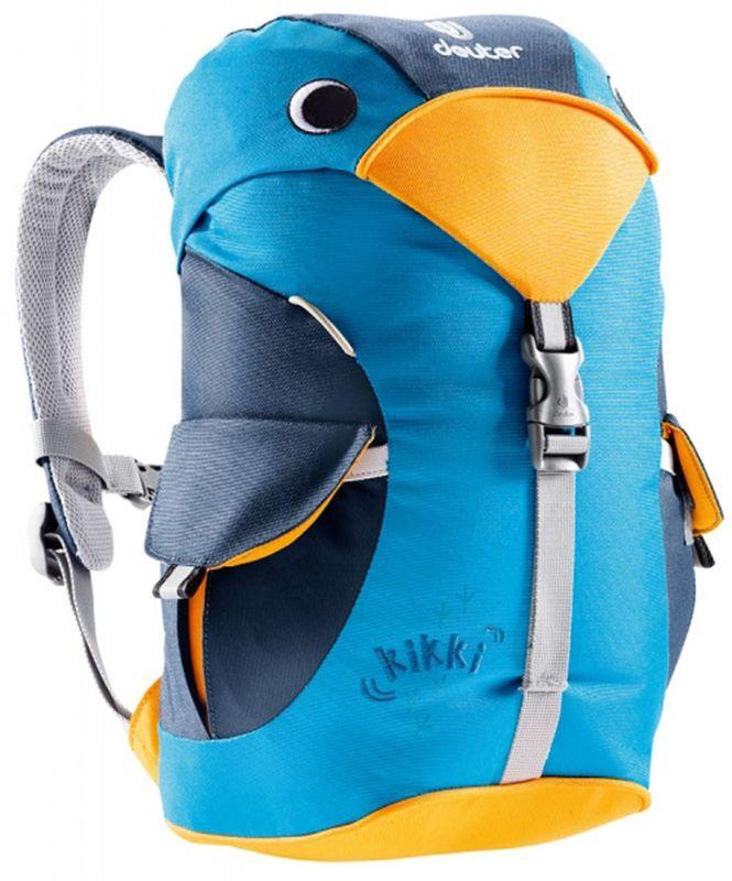 Deuter Рюкзак Kikki цвет синий36093-3312Рюкзак Deuter Kikki - это веселый попутчик для малышей в детском саду, на прогулках или в походе к озеру. Он веселый и заботливый. Рюкзак изготовлен из экологичной ткани.Рюкзак имеет просторное основное отделение, внутри которого находится именная бирка, два наружных кармана с застежками Velcro. Светоотражающие элементы располагаются спереди и по бокам изделия. Имеется внешняя петля для фиксации и грудной ремень.