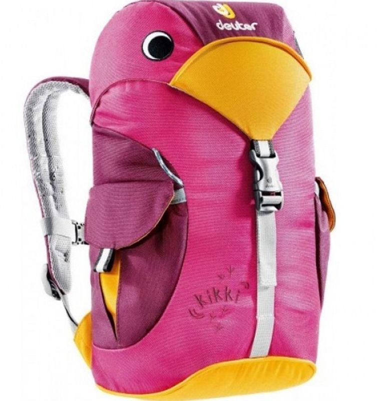 Deuter Рюкзак Kikki цвет фиолетовый36093-5505Рюкзак Deuter Kikki - это веселый попутчик для малышей в детском саду, на прогулках или в походе к озеру. Он веселый и заботливый. Рюкзак изготовлен из экологичной ткани.Рюкзак имеет просторное основное отделение, внутри которого находится именная бирка, два наружных кармана с застежками Velcro. Светоотражающие элементы располагаются спереди и по бокам изделия. Имеется внешняя петля для фиксации и грудной ремень.
