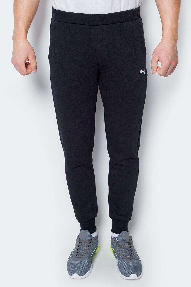 Брюки спортивные мужские Puma ESS Sweat Pants SLIM TR cl, цвет: черный. 83838001. Размер XXL (52/54) шорты спортивные puma puma pu053emiye01