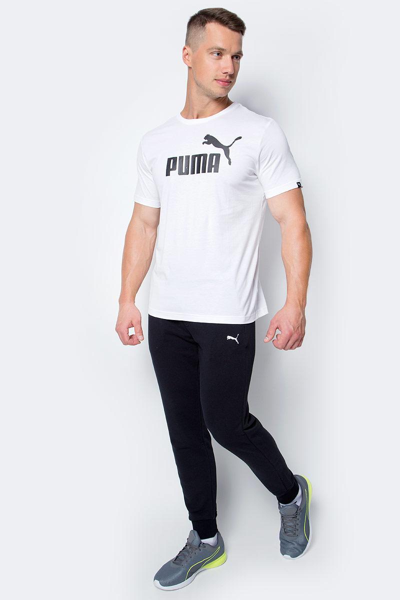 Брюки спортивные мужские Puma ESS Sweat Pants SLIM TR cl, цвет: черный. 83838001. Размер XXL (52/54)