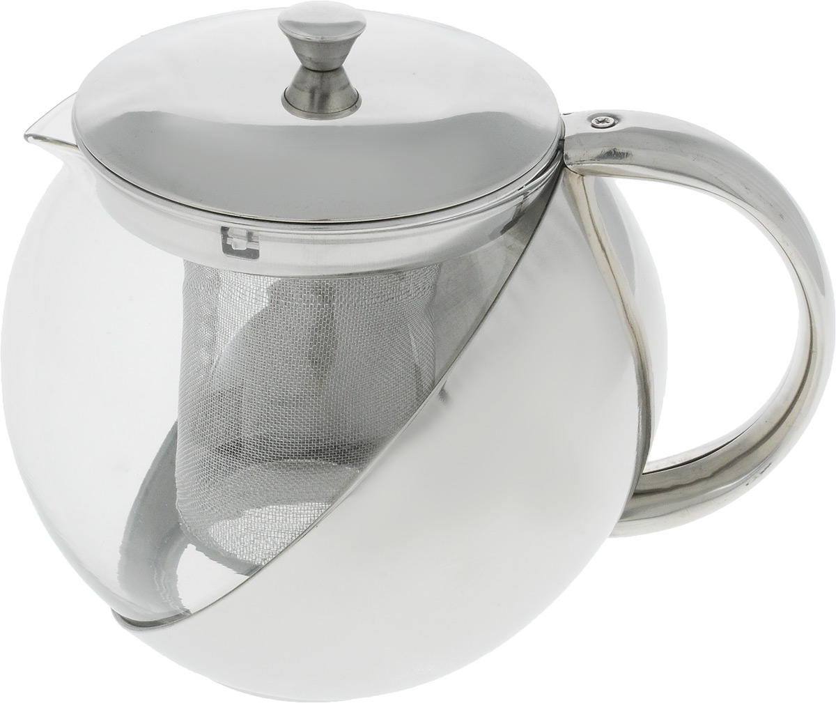 Чайник заварочный Wellberg, 1 л. 6876 WB6876 WBЗаварочный чайник Wellberg WB-6870 из стекла и нержавеющей стали прекрасно подойдет для кухни в стиле Hi-tech. Объем чайника составляет 1 литр, что вполне хватит для заваривания 4-5 чашек ароматного черного или травяного чая. Заварочный чайник оснащен качественным фильтром, эргономичной ручкой, удобный крышкой цвета металлик.