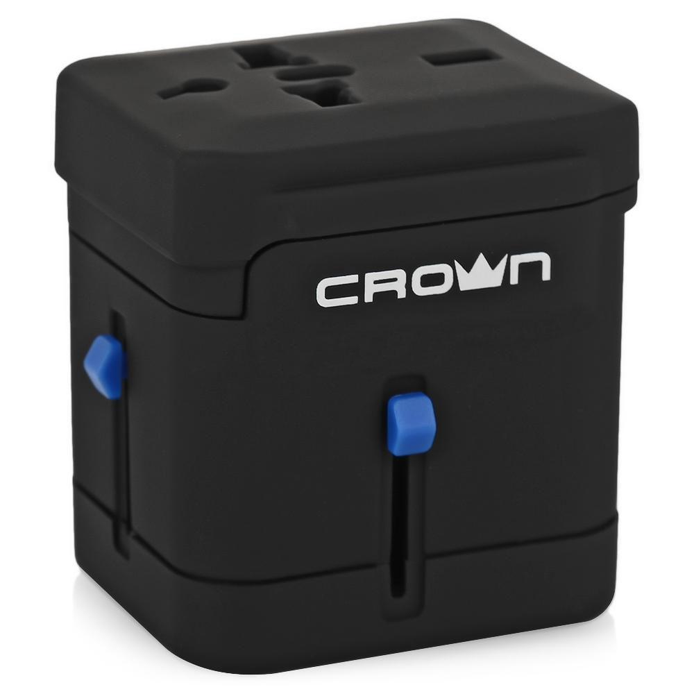 Crown CMDC-IP5-027 сетевой адаптерCM000001396Сетевой адаптер Crown CMDC-IP5-027 зарядит мобильные устройства в любом месте и в любое время. Позволяет заряжать два USB совместимых устройства одновременно, идеально подходит для использования с iPad/iPhone/iPod, мобильными телефонами, MP3, GPS. Обладает компактными размерами, поместится в любой сумке. Идеально подходит для путешествий.Гнезда для: Euro, США/Япония, Австралия/Китай, ВеликобританияВыдвижные вилки: Евро, Великобритания, США/Япония, Австралия/Китай