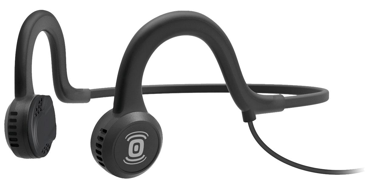 Aftershokz Sportz Titanium AS401, Black наушникиAS401XBAfterShokz Sportz Titanium - это спортивная гарнитура с уникальной технологией проводимости звуканепосредственно в кость. Гарнитура позволяет прослушивать музыку до 12 часов на одном заряде батареи, авремя зарядки составляет всего два часа. Использованная в AfterShokz Sportz Titanium технология PremiumPitch (костная проводимость звука) позволяетслушать музыку и происходящее вокруг одновременно. Данная особенность позволяет сосредоточится натренировке, но при этом быть всегда на чеку. Максимальное звуковое давление у данной модели составляет101 дБ, что обеспечит достаточно высокую громкость наушников. AfterShokz Sportz Titanium изготовлены из качественных и прочных материалов, основным из которых являетсятитан. Гарнитура крепится на затылке и имеет гибкое крепление, благодаря чему она не вызываетдискомфорта при интенсивных тренировках.