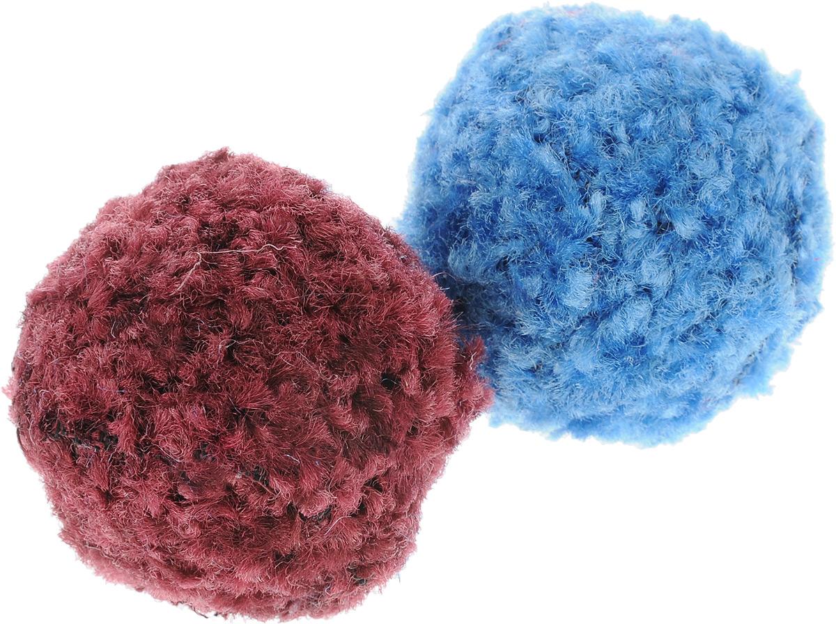 Игрушка для кошек GLG Мяч-погремушка, цвет: бордовый, голубой, 2 штGLG054_бордовый, голубойИгрушка для кошек GLG Мяч-погремушка, выполненная из пластика и текстиля, не позволит заскучать вашему любимцу. Играя с этой забавной игрушкой, маленькие котята развиваются физически, а взрослые кошки и коты поддерживают свой мышечный тонус. Гремящий мячик привлечет внимание вашего любимца, не навредит здоровью и займет его на долгое время.Диаметр шара: 4 см.