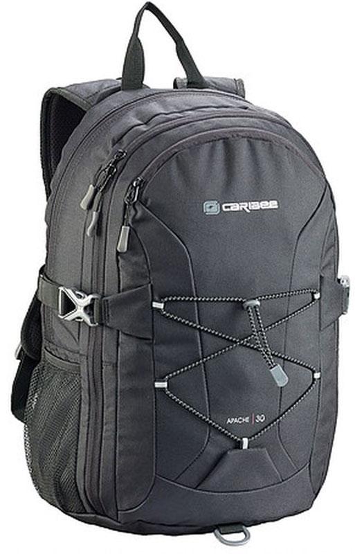 Caribee Рюкзак Apache цвет черный6050Рюкзак Caribee Apache - удобный городской рюкзак.Спинка рюкзака имеет удобное строение и мягкую обивку. Лямки S-образной формы можно адаптировать под рост за счет подвесной системы. Благодаря стяжкам объем рюкзака можно регулировать.Рюкзак имеет несколько вместительных отделений, основное отделение формата А4. Фронтальная QR система резинок поможет разместить верхнюю одежду. Нагрудный ремень необходим для распределения нагрузки. Передний большой карман на молнии имеет органайзер для ключей и телефона.Материал, который применяется при изготовлении рюкзака, устойчив к перепадам температуры и света, ультрафиолета и влаги.