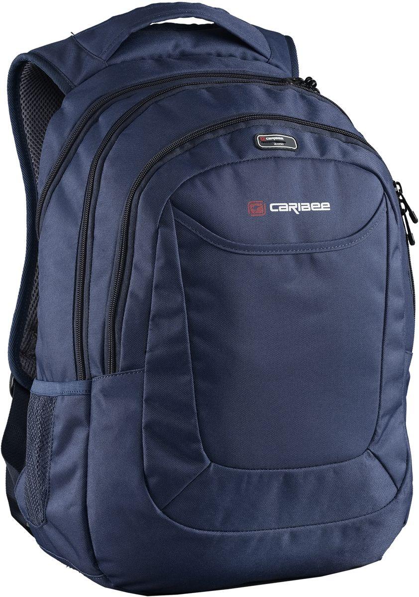Caribee Рюкзак College 30 цвет темно-синий64151Рюкзак Caribee College 30 - рюкзак для школы, института, города.Благодаря хорошей внутренней организации в рюкзаке найдется место всему необходимому в течение дня, а продуманная подвесная система обеспечит максимальный комфорт даже при большом весе и максимальной загрузке рюкзака.Рюкзак включает в себя мягкий чехол для ноутбука с диагональю 15,4, встроенный органайзер, боковые карманы и карман с выходом для наушников. Главное отделение вмещает документы формата А4.