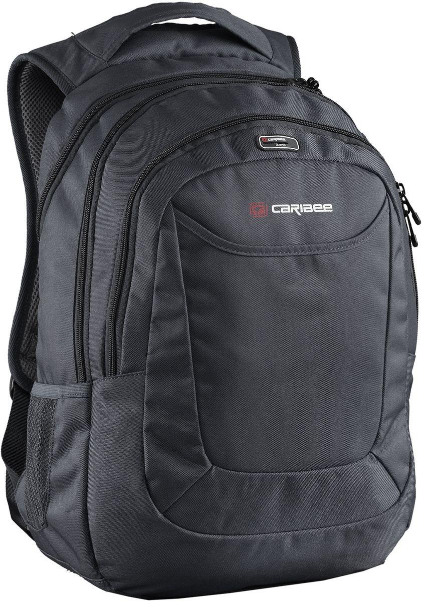 Caribee Рюкзак College 30 цвет черный64152Рюкзак Caribee College 30 - рюкзак для школы, института, города.Благодаря хорошей внутренней организации в рюкзаке найдется место всему необходимому в течение дня, а продуманная подвесная система обеспечит максимальный комфорт даже при большом весе и максимальной загрузке рюкзака.Рюкзак включает в себя мягкий чехол для ноутбука с диагональю 15,4, встроенный органайзер, боковые карманы и карман с выходом для наушников. Главное отделение вмещает документы формата А4.