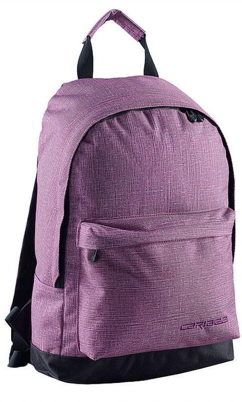 Caribee Рюкзак Campus цвет сиреневый64702Рюкзак Caribee Campus - стильный городской рюкзак, который вмещает все необходимое в течение дня. Рюкзак имеет просторное внутреннее отделение, которое подходит для документов формата А4. На передней панели рюкзака находится вместительный карман на молнии.Рюкзак изготовлен из прочной невыцветающей ткани, легко поддающейся чистке.
