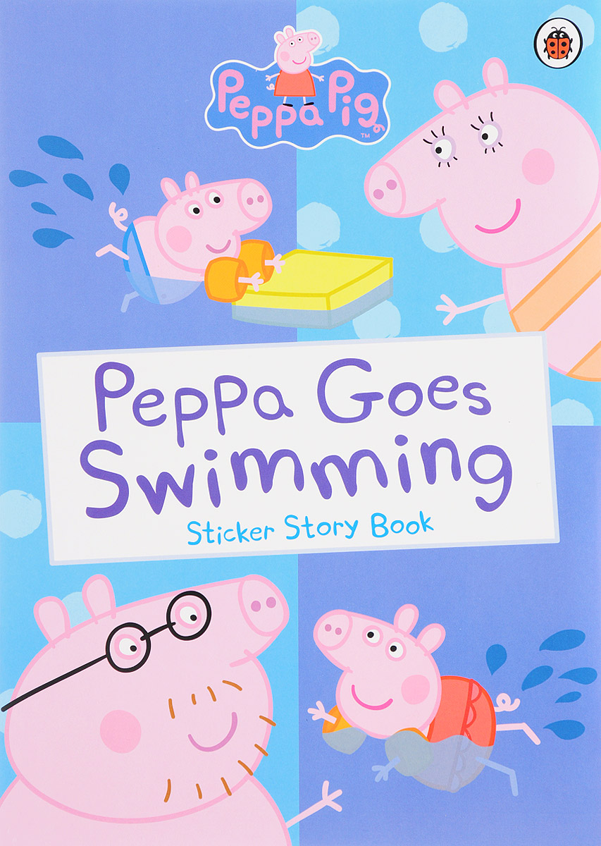 Peppa Goes Swimming: Sticker Story Book george s first day at playgroup sticker story book