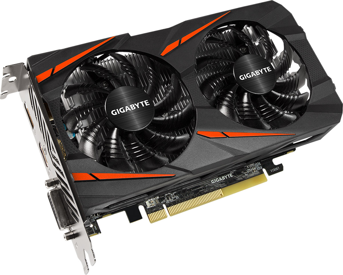 Gigabyte Radeon RX 460 Windforce OC 2GB видеокартаGV-RX460WF2OC-2GDВидеокарта Gigabyte PCI-E GV-RX460WF2OC-2GD AMD RX460 2048Mb 128b GDDR5 1212/7000 DVIx1/HDMIx1/DPx1