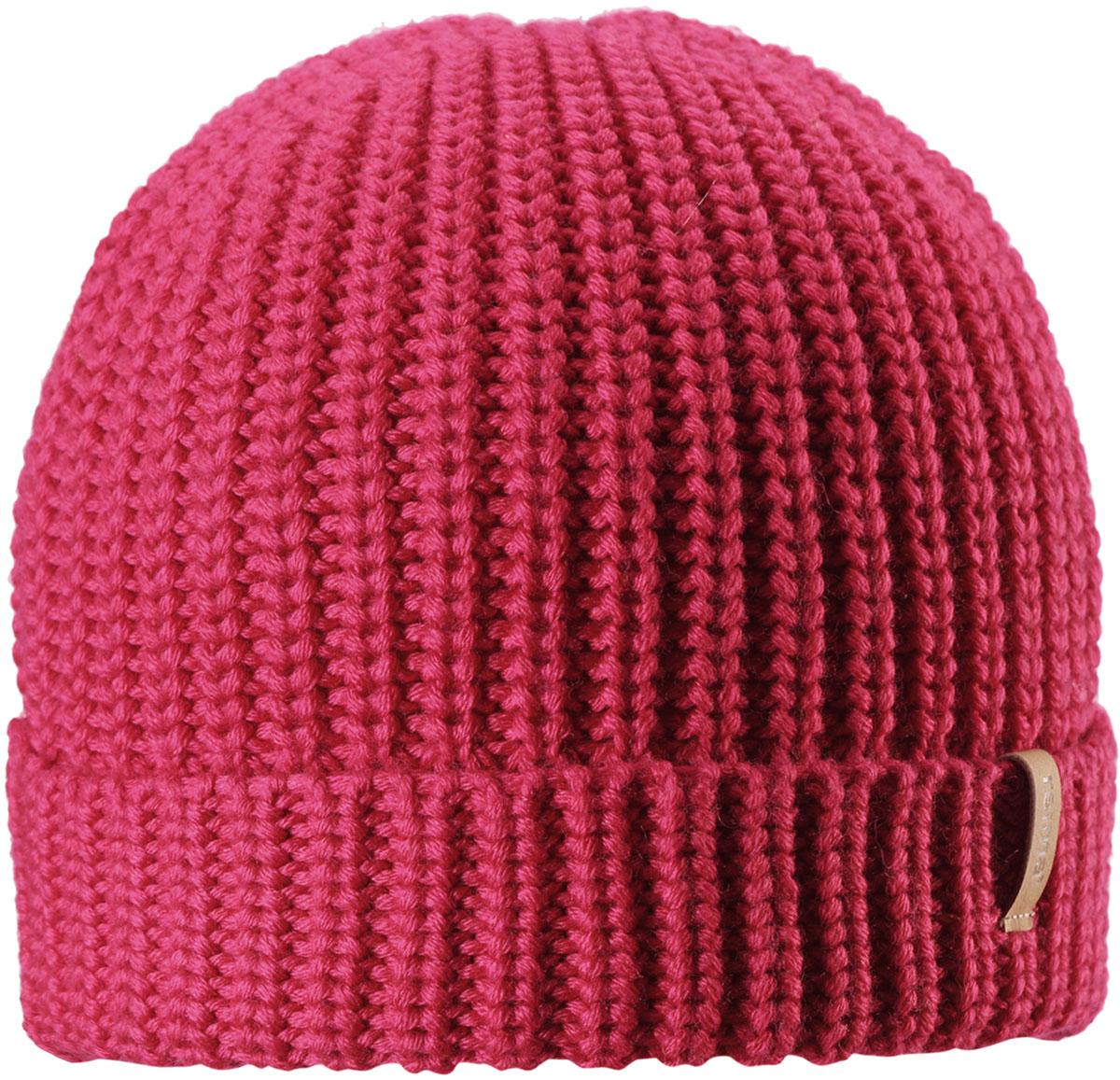 Шапка-бини для девочки Reima Vanttuu, цвет: розовый. 5285423560. Размер 545285423560Детская шапка Reima выполнена из теплого полушерстяного трикотажа. Шерсть - превосходный терморегулятор. Облегченная модель без подкладки. Оригинальный структурный узор дополняет образ.