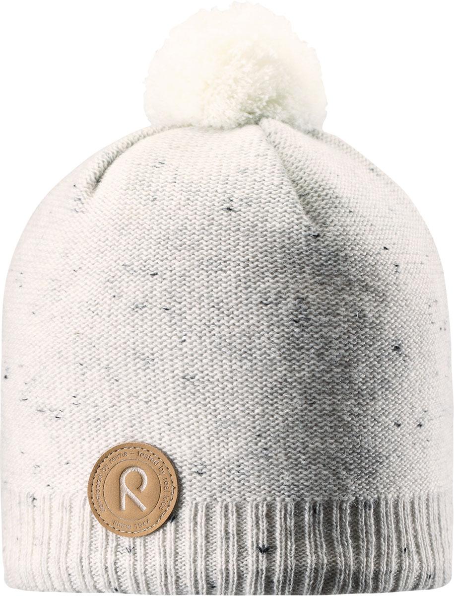 Шапка-бини детская Reima Kajaani, цвет: белый. 5285630100. Размер 525285630100Детская шапка из теплого шерстяного трикотажа. Материал превосходно регулирует температуру и хорошо согревает голову. Ветронепроницаемые вставки и подкладка из мягкого флиса. Декоративная структурная вязка.
