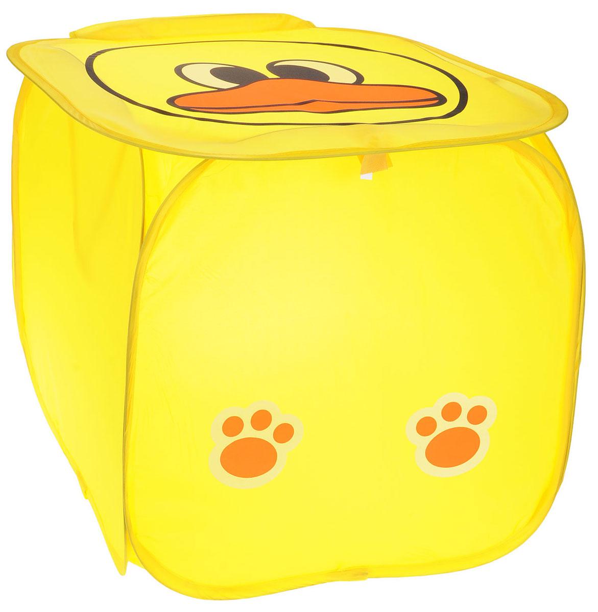 NEW COMMODITY Корзина для игрушек УточкаR4021Ящик для хранения NEW COMMODITY Уточка поможет вам навести порядок в детской.Размер изделия позволяет хранить в нем игрушки, книжки или белье. Ящик легко складывается, когда в его использовании нет необходимости, тем самым сохраняя простор вашего дома.Это идеальный подарок для детей.