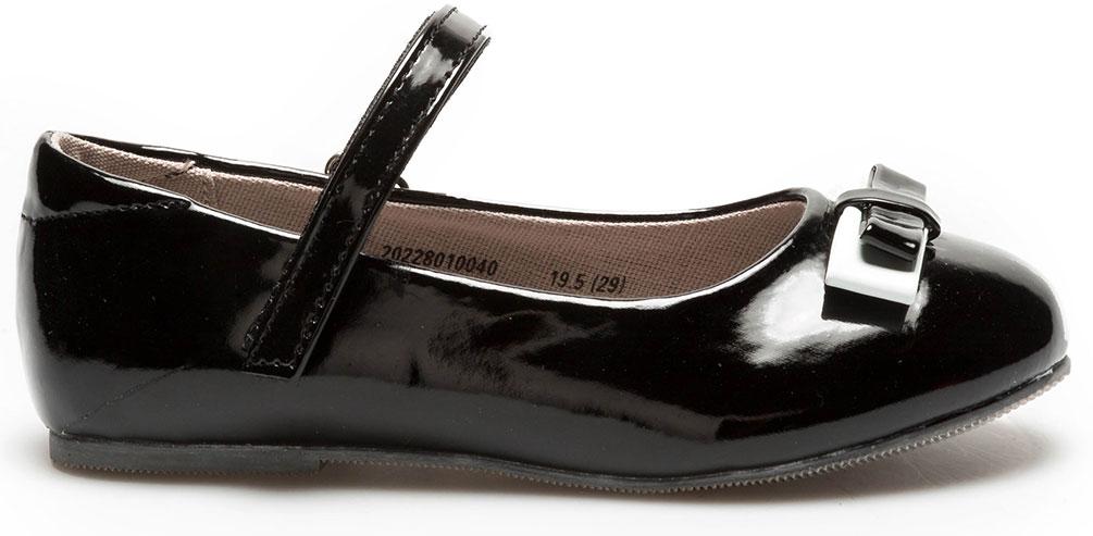 Туфли для девочки Acoola Luisa, цвет: черный. 20228010045_100. Размер 3420228010040/0228010045_100Модные туфли Luisa от бренда Acoola понравятся вашей юной моднице с первого взгляда. Модель выполнена из искусственной кожи и оформлена на мысе двойным бантом. Ремешок на застежке-липучке надежно зафиксирует изделие. Подошва оснащена рифлением для лучшего сцепления с различными поверхностями. Стильные и удобные туфли - незаменимая вещь в гардеробе каждой школьницы.