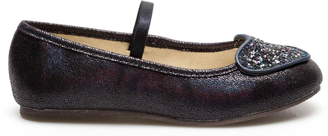 Туфли для девочки Acoola Olasa, цвет: темно-синий. 20228010043_600. Размер 2820228010043/20228010046_600Очаровательные туфли Olasa от бренда Acoola понравятся вашей юной моднице с первого взгляда. Модель выполнена из искусственной кожи и оформлена на мысе аппликацией в виде сердечка с блестками. Стильные и удобные туфли - незаменимая вещь в гардеробе каждой школьницы.