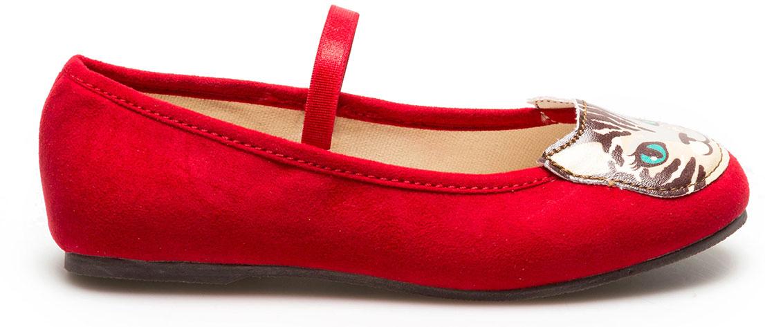Туфли для девочки Acoola Korina, цвет: красный. 20228010049_1500. Размер 3520228010049/20228010041_1500Яркие туфли Korina от бренда Acoola понравятся вашей юной моднице с первого взгляда. Модель выполнена из текстиля и оформлена на мысе аппликацией в виде мордочки кошечки. Стильные и удобные туфли - незаменимая вещь в гардеробе каждой девочки.