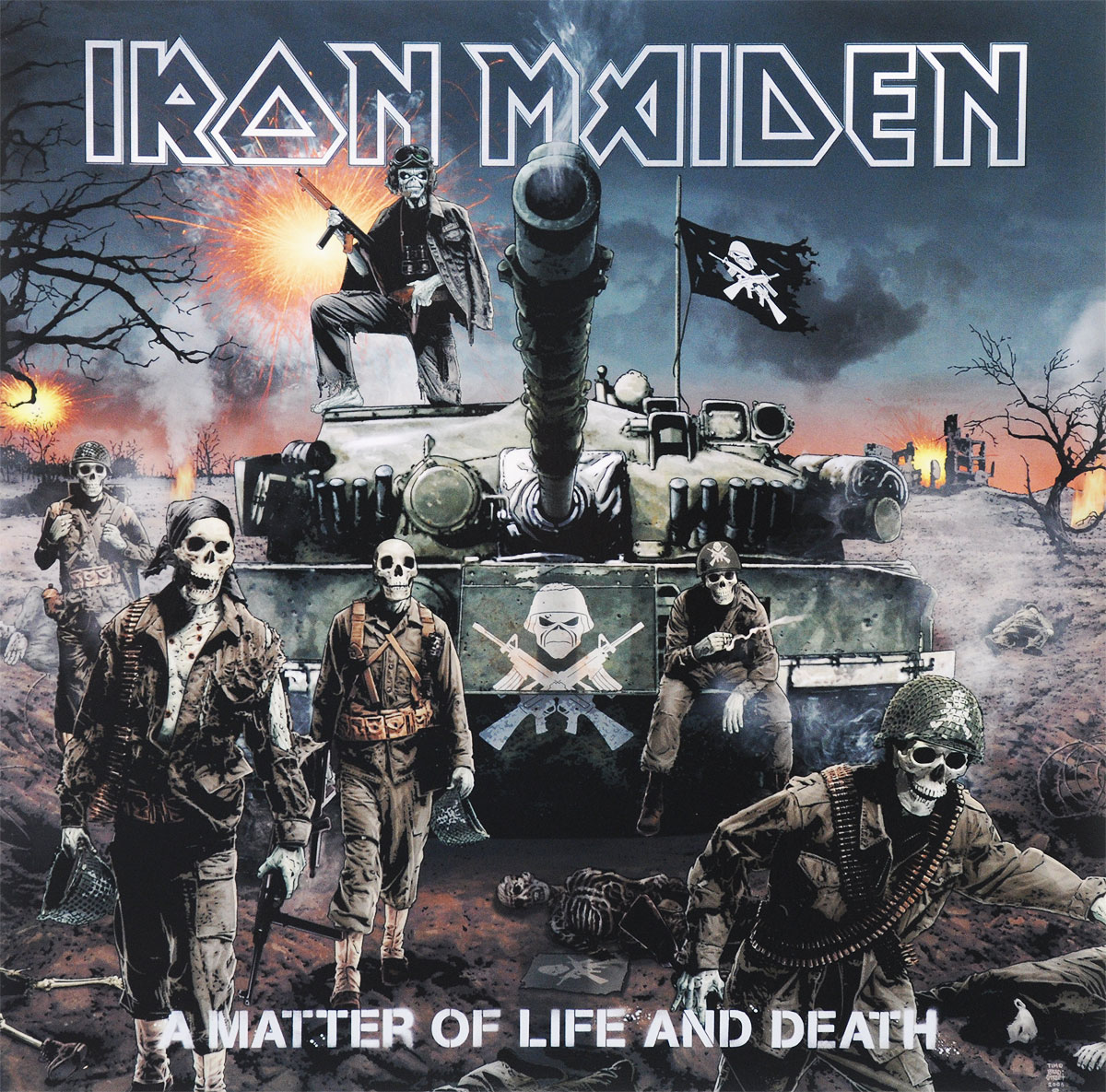 Iron Maiden Iron Maiden. A Matter Of Life And Death (2 LP) cd iron maiden a matter of life and death