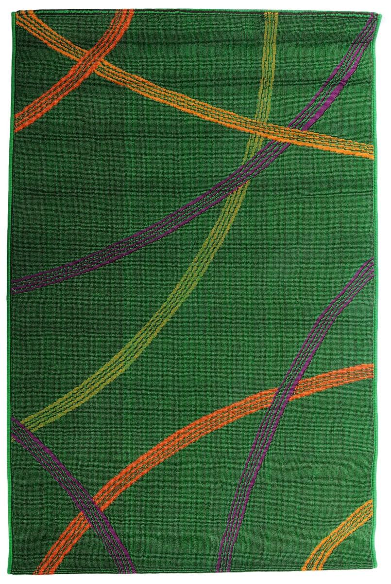 Коврик прикроватный Oriental Weavers Дaззл, цвет: зеленый, коричневый, 100 х 150 см. 1505515055Яркая циновка с мягким и упругим ворсом - неповторимый элемент для гостиных и детских комнат. Оригинальный ковер от известной египетской фабрики Oriental Weavers подойдет для современных и классических интерьеров.