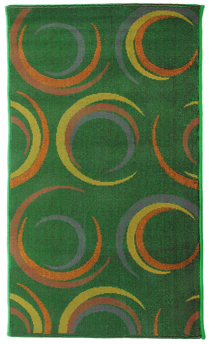 Коврик прикроватный Oriental Weavers Дaззл, цвет: зеленый, 67 х 120 см. 1503715037Яркая циновка с мягким и упругим ворсом - неповторимый элемент для гостиных и детских комнат. Оригинальный ковер от известной египетской фабрики Oriental Weavers подойдет для современных и классических интерьеров.