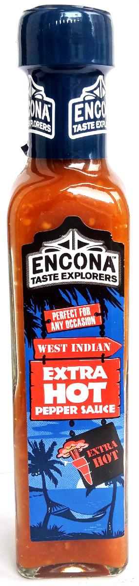 Encona Экстра острый перечный соус, 142 мл259700Достаточно острый, имеет приятный кисловатый вкус. Вниманию аллергиков: содержит горчицу.