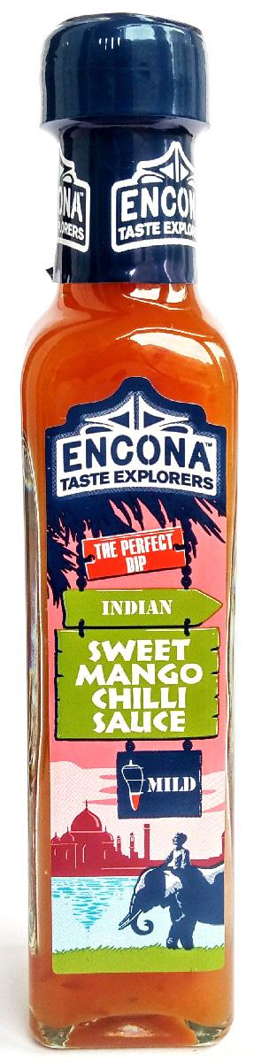 Encona Сладкий чили с манго соус, 142 мл259704Соус имеет слабоострый сладко-пряный вкус.