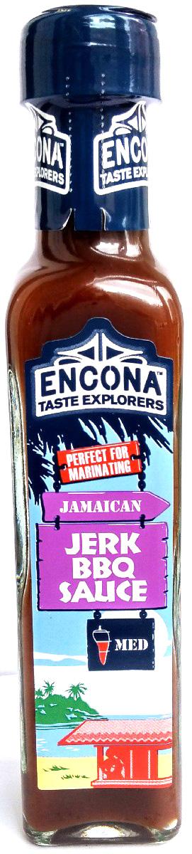 Encona Барбекю по-ямайски соус,142 мл259709Традиционные специи оригинальной ямайской кухни и жгучие ноты перца хабанеро легли в основу этого пикантного соуса. Он придаст среднюю остроту вашим разнообразным блюдам и сделает их аромат еще более аппетитным.Рекомендуется к блюдам из мяса, птицы, рыбы и овощей, а также в качестве маринада.
