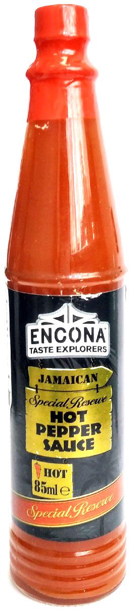 Encona Острый перечный соус, 85 мл259718Острый перечный соус изготовлен преимущественно из пюре перца хабанеро. В удобной стеклянной бутылке, которая бережно сохраняет содержимое и защищает от проникновения влаги и посторонних запахов. Узкое горлышко емкости не позволит вам переборщить с соусом. Внимание: очень острый!