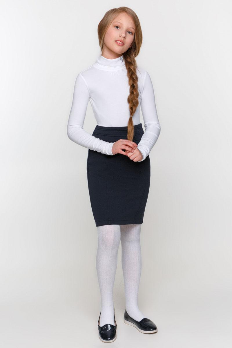 Водолазка для девочки Overmoon by Acoola Ava, цвет: белый. 21200100001_200. Размер 122 infinity by acoola roberto р 122 128 белая