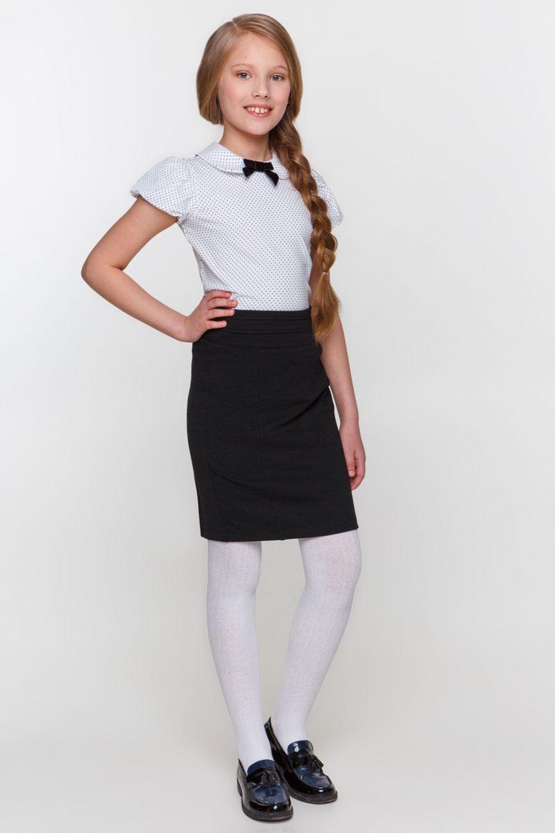 Блузка для девочки Overmoon by Acoola Aleksa, цвет: белый, черный. 21200110005_8000. Размер 122 infinity by acoola roberto р 122 128 белая