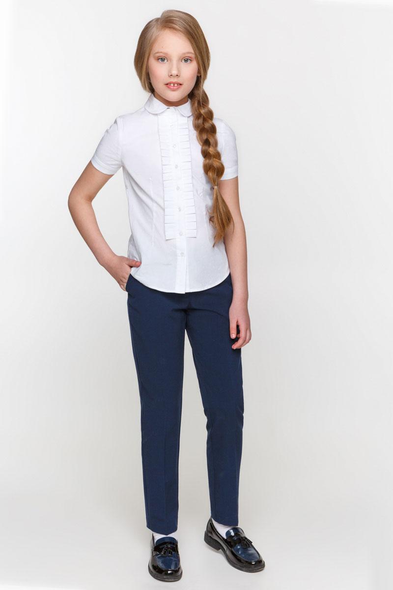Блузка для девочки Overmoon by Acoola Ayra, цвет: белый. 21200270001_200. Размер 122